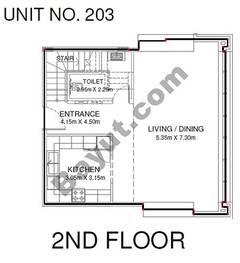 Studio - Unit 203 - 2nd Floor