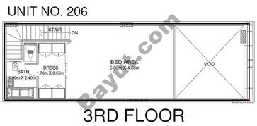 1 Br - Unit 206 - 3rd Floor