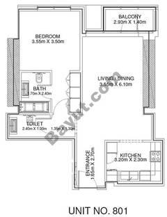 1 Br - Unit 801 - 8th Floor