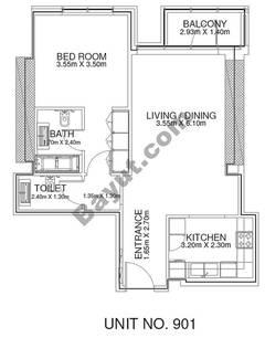 1 Br - Unit 901 - 9th Floor