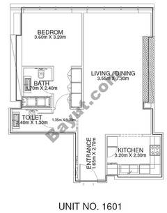 1 Br - Unit 1601 - 16th Floor
