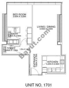 1 Br - Unit 1701 - 17th Floor