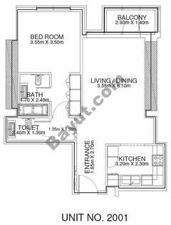 1 Br - Unit 2001 - 20th Floor