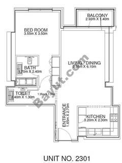 1 Br - Unit 2301 - 23rd Floor