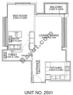 1 Br -Unit 2501 - 25th Floor