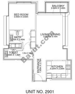 1 Br - Unit 2901 - 29th Floor