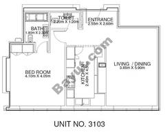 1 Br - Unit 3103 - 31th Floor