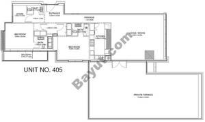 2 Br - Unit 405 - 4th Floor