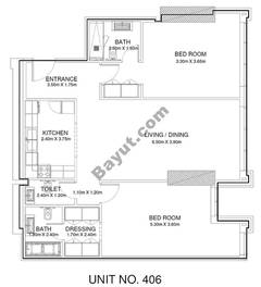 2 Br - Unit 406 - 4th Floor