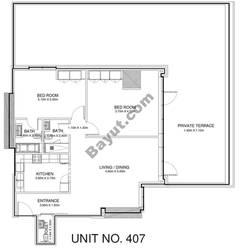 2 Br - Unit 407 - 4th Floor