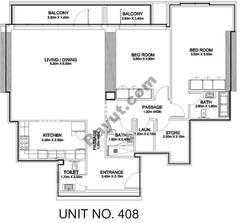 2 Br - Unit 408 - 4th Floor