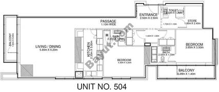2 Br - Unit 504 - 5th Floor