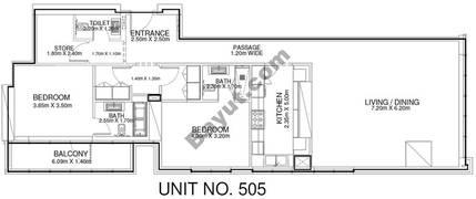 2 Br - Unit 505 - 5th Floor