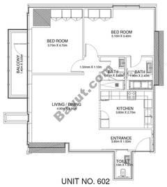 2 Br - Unit 602 - 6th Floor
