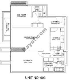 2 Br - Unit 603 - 6th Floor
