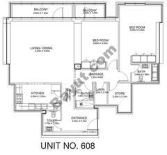 2 Br - Unit 608 - 6th Floor