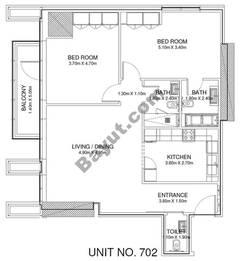 2 Br - Unit 702 - 7th Floor