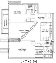 2 Br - Unit 703 - 7th Floor