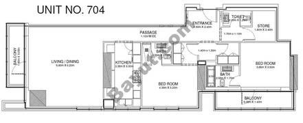 2 Br - Unit 704 - 7th Floor