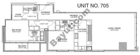2 Br - Unit 705 - 7th Floor