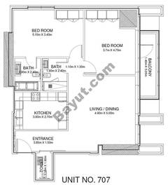 2 Br - Unit 707 - 7th Floor