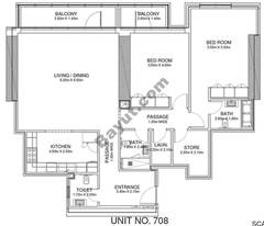 2 Br - Unit 708 - 7th Floor