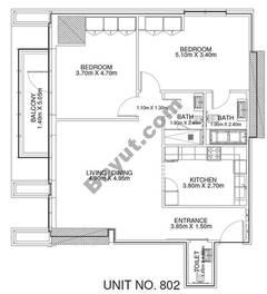 2 Br - Unit 802 - 8th Floor