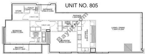 2 Br - Unit 805 - 8th Floor
