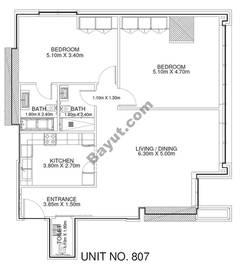 2 Br - Unit 807 - 8th Floor