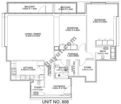 2 Br - Unit 808 - 8th Floor