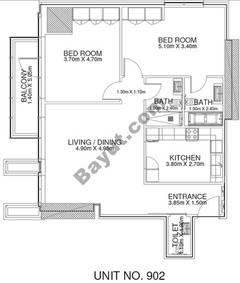 2 Br - Unit 902 - 9th Floor