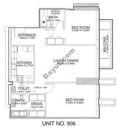 2 Br - Unit 906 - 9th Floor