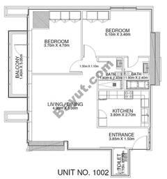 2 Br - Unit 1002 - 10th Floor
