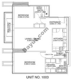 2 Br - Unit 1003 - 10th Floor