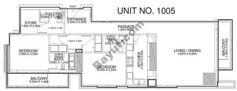 2 Br - Unit 1005 - 10th Floor