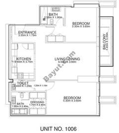 2 Br - Unit 1006 - 10th Floor