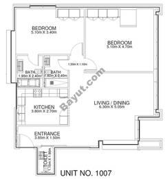 2 Br - Unit 1007 - 10th Floor