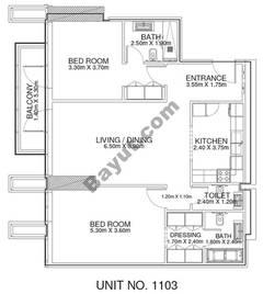 2 Br - Unit 1103 - 11th Floor