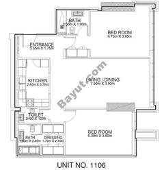 2 Br - Unit 1106 - 11th Floor