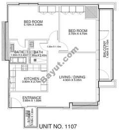 2 Br - Unit 1107 - 11th Floor