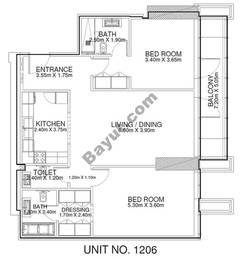 2 Br - Unit 1206 - 12th Floor