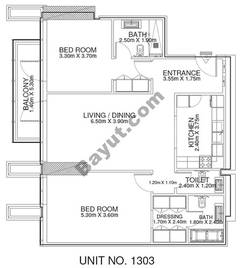 2 Br - Unit 1303 - 13th Floor