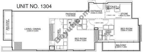 2 Br - Unit 1304 - 13th Floor