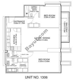 2 Br - Unit 1306 - 13th Floor