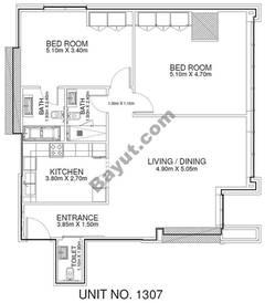 2 Br - Unit 1307 - 13th Floor