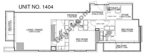 2 Br - Unit 1404 - 14th Floor