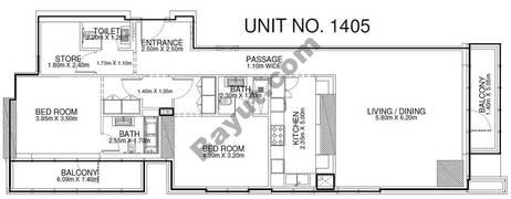 2 Br - Unit 1405 - 14th Floor
