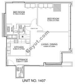 2 Br - Unit 1407 - 14th Floor