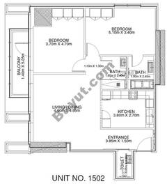 2 Br - Unit 1502 - 15th Floor