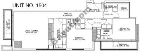 2 Br - Unit 1504 - 15th Floor